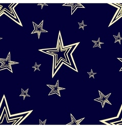 Starry seamless pattern vector