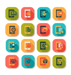 flat mobile icons vector image