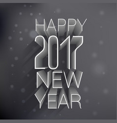 3d happy new year 2017 text on black background vector