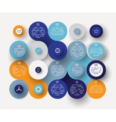 Flat circle infographic vector