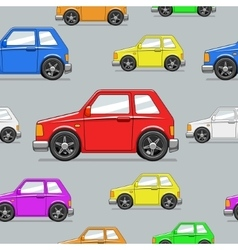 Seamless pattern toy car vector