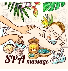 Relax spa massage vector