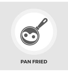Scrambled eggs icon flat vector image