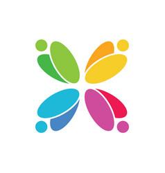 Abstract circle colorful logo image vector