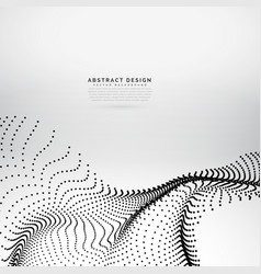 Abstract wavy particles array background vector