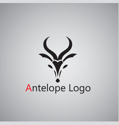 Antelope logo ideas design vector
