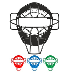 baseball mask vector image