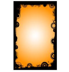 Black Border with Circles 4 vector image