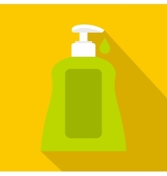 Body care lotion icon flat style vector image vector image