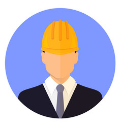 Builder male head wearing a helmet vector