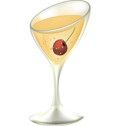 Cocktail cartoon vector image