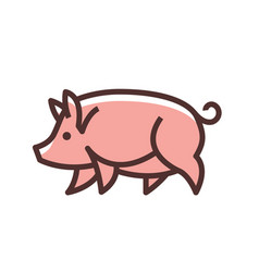 colorful stylized drawing of pig vector image vector image