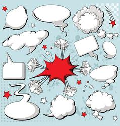 comics style speech bubbles vector image vector image