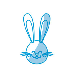 cute head bunny easter character vector image