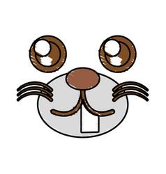 drawing kawaii face animal vector image vector image