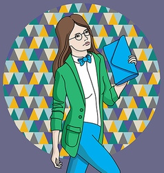 girlinstyle vector image