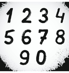 Grunge Style Font Grunge Numbers Symbols vector image