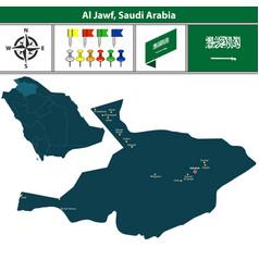 Map of al jawf saudi arabia vector
