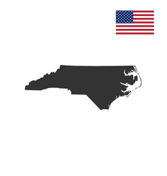 Map of the us state north carolin vector