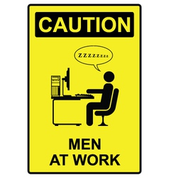 Men at work vector image
