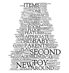 mommy must haves for the second child text vector image