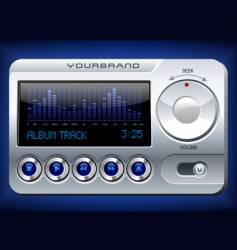 Music player with spectrum analyzer vector