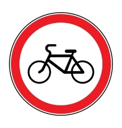 No bicycle sign vector
