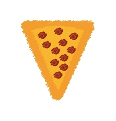 pepperoni pizza piece vector image