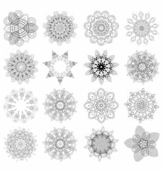 set of design elements flowers vector image vector image