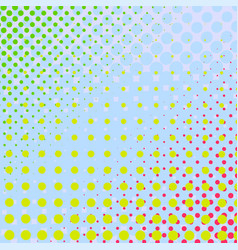 Set of halftone dots colorful background vector