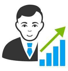 Stock trader icon vector