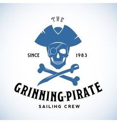 The grinning pirate sailing crew abstract vector