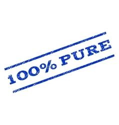 100 percent pure watermark stamp vector