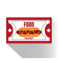 Food ticket of carnival design vector