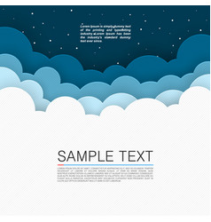 background cloud cover night sky background vector image