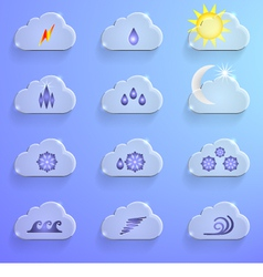 Cloud with 12 signs vector