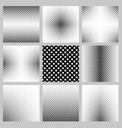 Black and white angular square pattern set vector