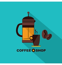 Coffee icon menu flat design for menu coffee shop vector