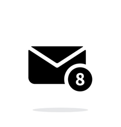 Mail with numbers icon on white background vector