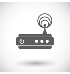 Router single icon vector