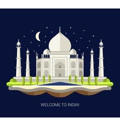 Flat design travel indian vector