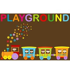 Playground announcement vector