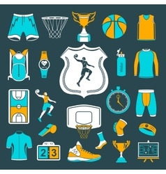 Set of icons basketball vector