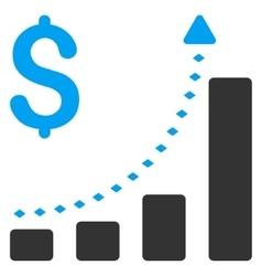 Business Bar Chart Positive Trend Toolbar vector image