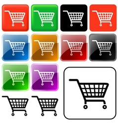Shopping Basket Sign vector image
