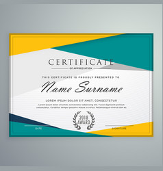 abstract geometric certificate template design vector image vector image