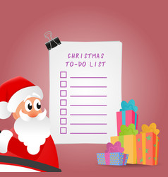 Beautiful christmas to-do list vector
