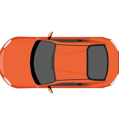 Car top view vector image