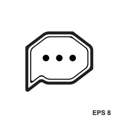 Chat Simple Icon vector image