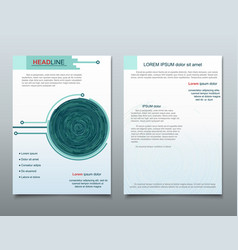 circle brochure business flyer design template vector image vector image